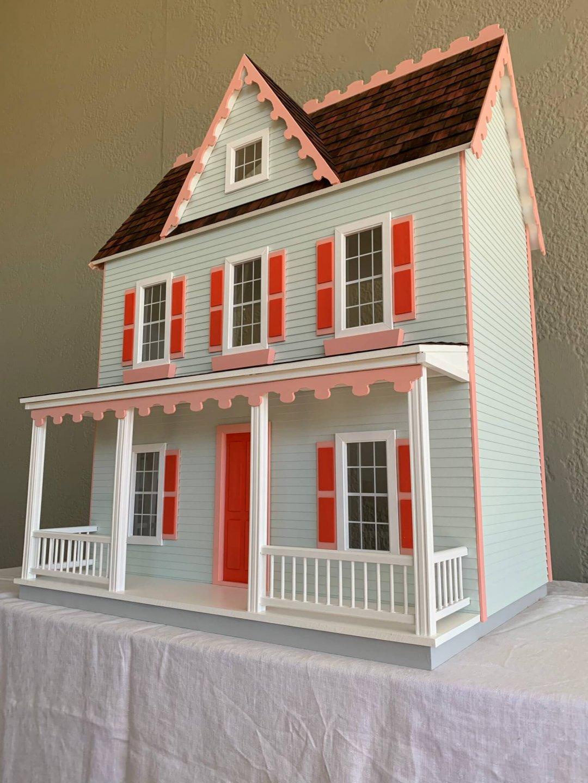 The Vermont Farmhouse Dollhouse  $795 (Electrified)